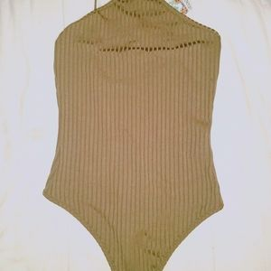 brown body suit bnwt